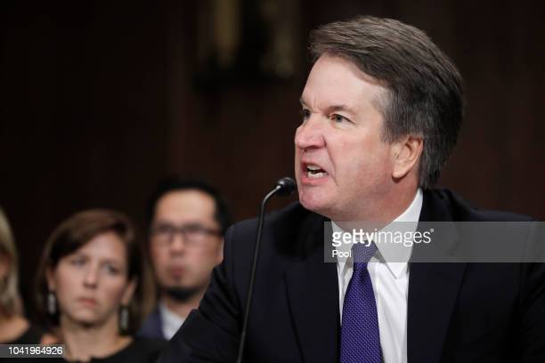 S Supreme Court nominee Brett Kavanaugh testifies before a Senate Judiciary Committee confirmation hearing for Kavanaugh on Capitol Hill September 27...