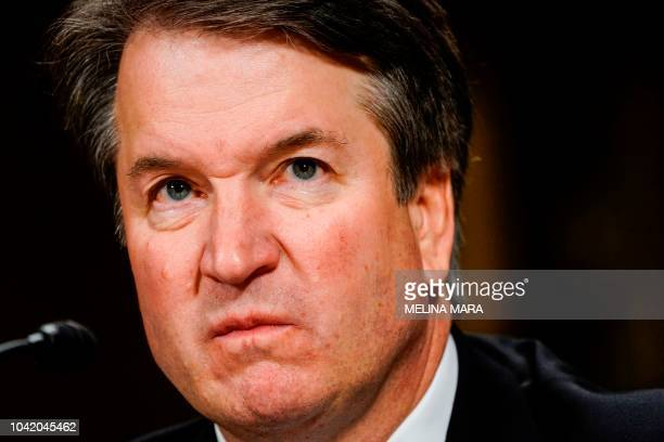 Supreme court nominee Brett Kavanaugh testifies before the Senate Judiciary Committee on Capitol Hill in Washington, DC on September 27, 2018. -...