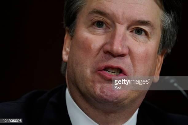 Supreme Court nominee Brett Kavanaugh testifies before the Senate Judiciary Committee on Capitol Hill on September 27 2018 in Washington DC Kavanaugh...