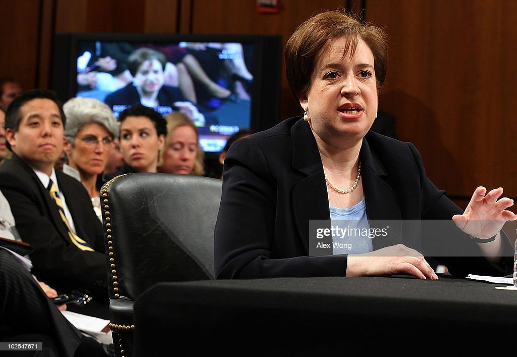 U.S. Supreme Court nominee Elena Kagan answers questions from members of the Senate Judiciary Committee on the third day of her confirmation hearings on Capitol Hill June 30, 2010 in Washington, DC. Kagan is U.S. President Barack Obama's second Supreme Court nominee since taking office.