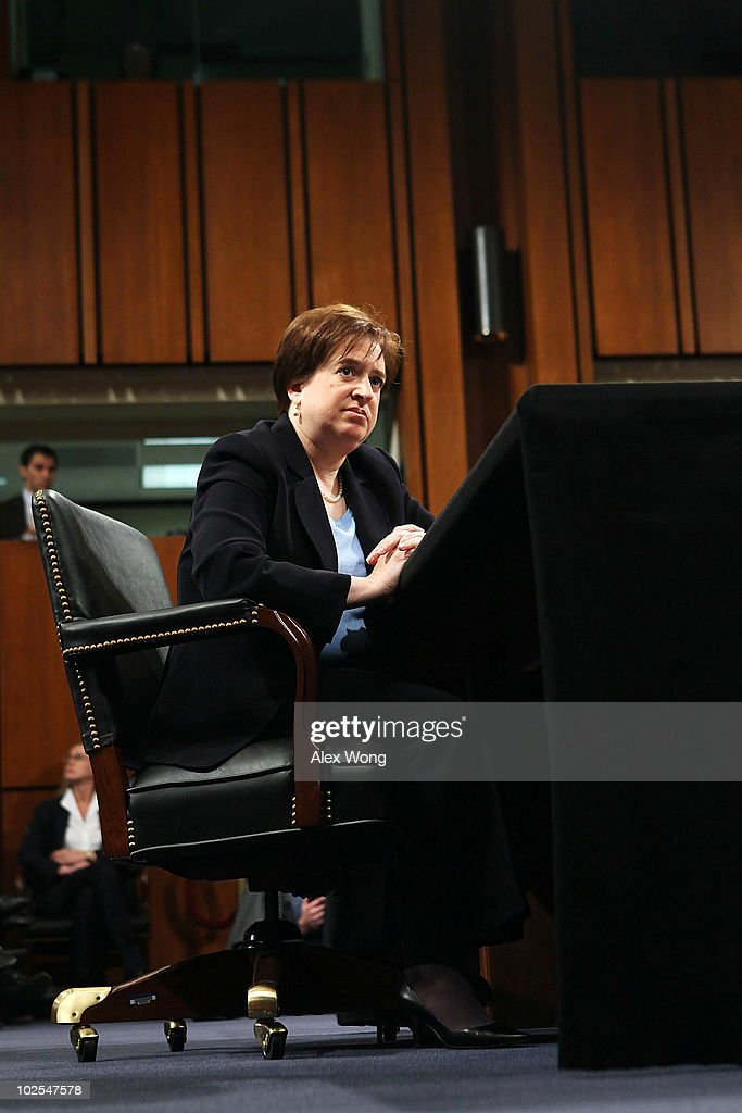 U.S. Supreme Court nominee Elena Kagan listens during the third day of her confirmation hearings before the Senate Judiciary Committee on Capitol Hill June 30, 2010 in Washington, DC. Kagan is U.S. President Barack Obama's second Supreme Court nominee since taking office.