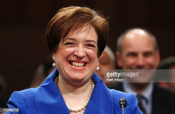 Supreme Court nominee Elena Kagan listens to opening statements by members of the Senate Judiciary Committee on the first day of her confirmation...