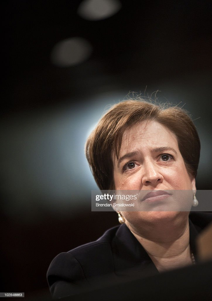 U.S. Supreme Court nominee Elena Kagan listens to questions from members of the Senate Judiciary Committee on the third day of her confirmation hearings on Capitol Hill June 30, 2010 in Washington, DC. If confirmed by the U.S. Senate, the former Harvard Law School dean and Solicitor General would be the first justice to join the high court without prior judicial experience since William Rehnquist in 1972. Kagan was selected by President Barack Obama to replace retiring Justice John Paul Stevens.