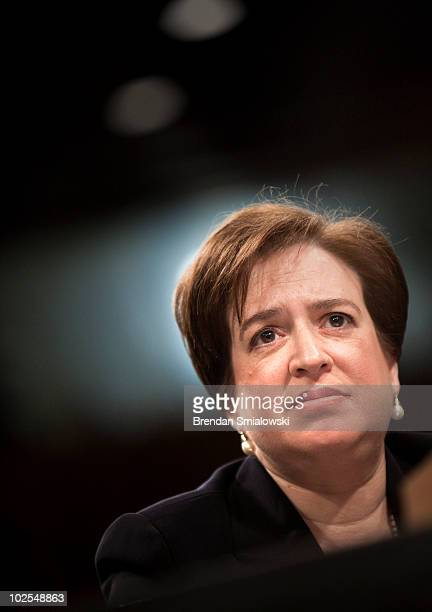 Supreme Court nominee Elena Kagan listens to questions from members of the Senate Judiciary Committee on the third day of her confirmation hearings...