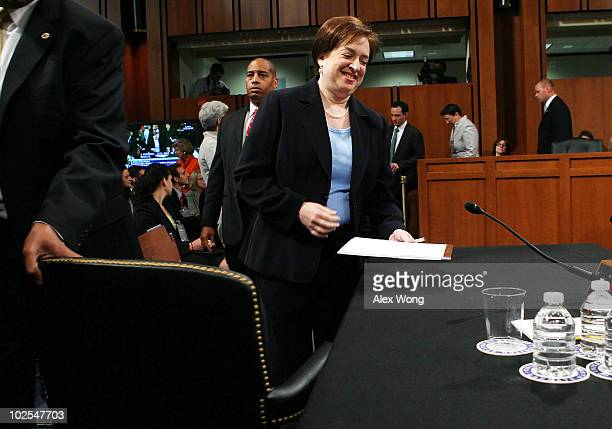 S Supreme Court nominee Elena Kagan returns after a break during the third day of her confirmation hearings before the Senate Judiciary Committee on...