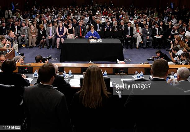 Supreme Court nominee Elena Kagan takes her seat for her confirmation hearings before the Senate Judiciary Committee at the U S Capitol in Washington...
