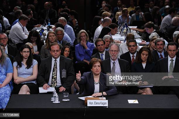 US Supreme Court nominee Elena Kagan testifies before the Senate Judiciary Committee on day two of her Supreme Court confirmation hearing on Tuesday...