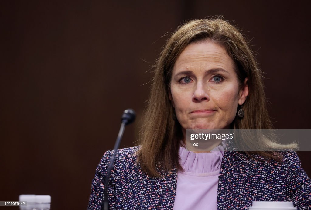 Senate Holds Confirmation Hearing For Amy Coney Barrett To Be Supreme Court Justice : News Photo