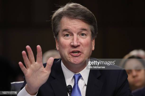 Supreme Court nominee Judge Brett Kavanaugh answers questions during the second day of his Supreme Court confirmation hearing on Capitol Hill...