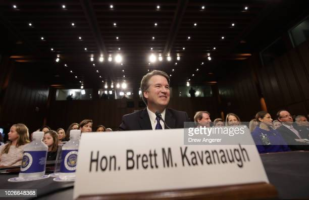 Supreme Court nominee Judge Brett Kavanaugh appears before the Senate Judiciary Committee during his Supreme Court confirmation hearing in the Hart...