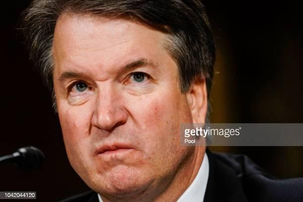 Supreme Court nominee Judge Brett Kavanaugh at a Senate Judiciary Committee hearing in the Dirksen Senate Office Building on Capitol Hill September...