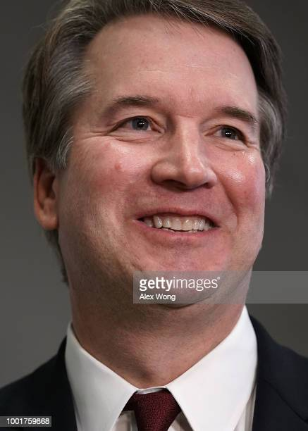 Supreme Court nominee Judge Brett Kavanaugh is seen during a meeting with US Sen Bob Corker on Capitol Hill July 18 2018 in Washington DC Kavanaugh...
