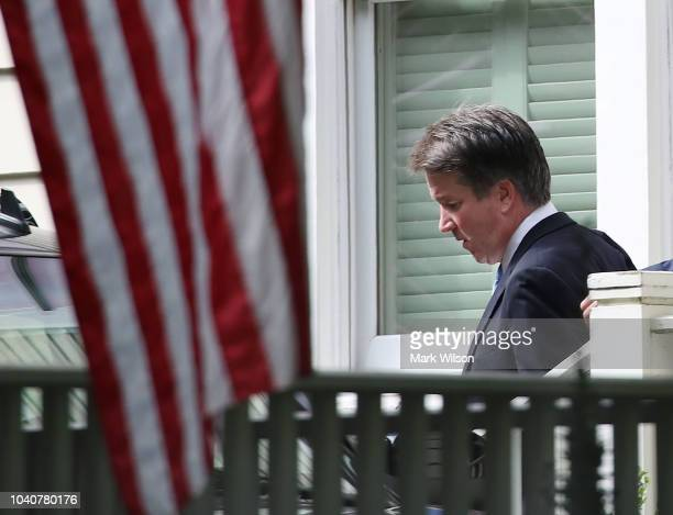 S Supreme Court nominee Judge Brett Kavanaugh leaves his home September 26 2018 in Chevy Chase Maryland Kavanaugh is scheduled to appear again before...