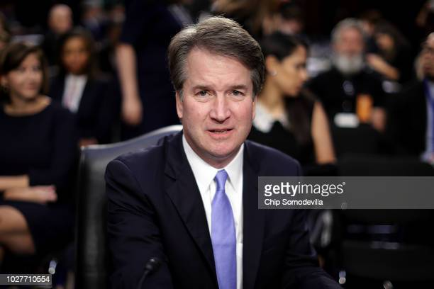 Supreme Court nominee Judge Brett Kavanaugh prepares to testify before the Senate Judiciary Committee on the third day of his Supreme Court...
