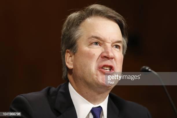 Supreme Court nominee Judge Brett Kavanaugh speaks at the Senate Judiciary Committee hearing on the nomination of Brett Kavanaugh to be an associate...