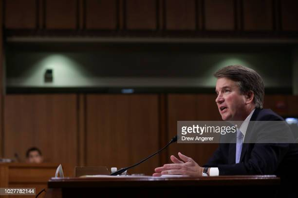 Supreme Court nominee Judge Brett Kavanaugh testifies before the Senate Judiciary Committee on the third day of his confirmation hearing on Capitol...