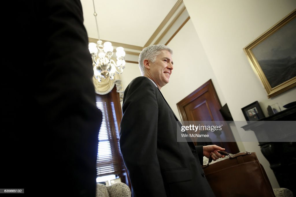 Supreme Court Nominee Neil Gorsuch Meets With Sen. Robert Casey