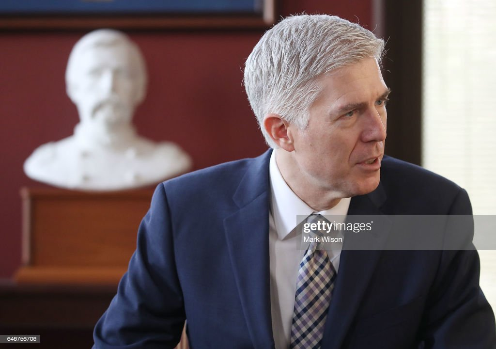 Sen. Angus King Meets With Supreme Court Justice Nominee Neil Gorsuch