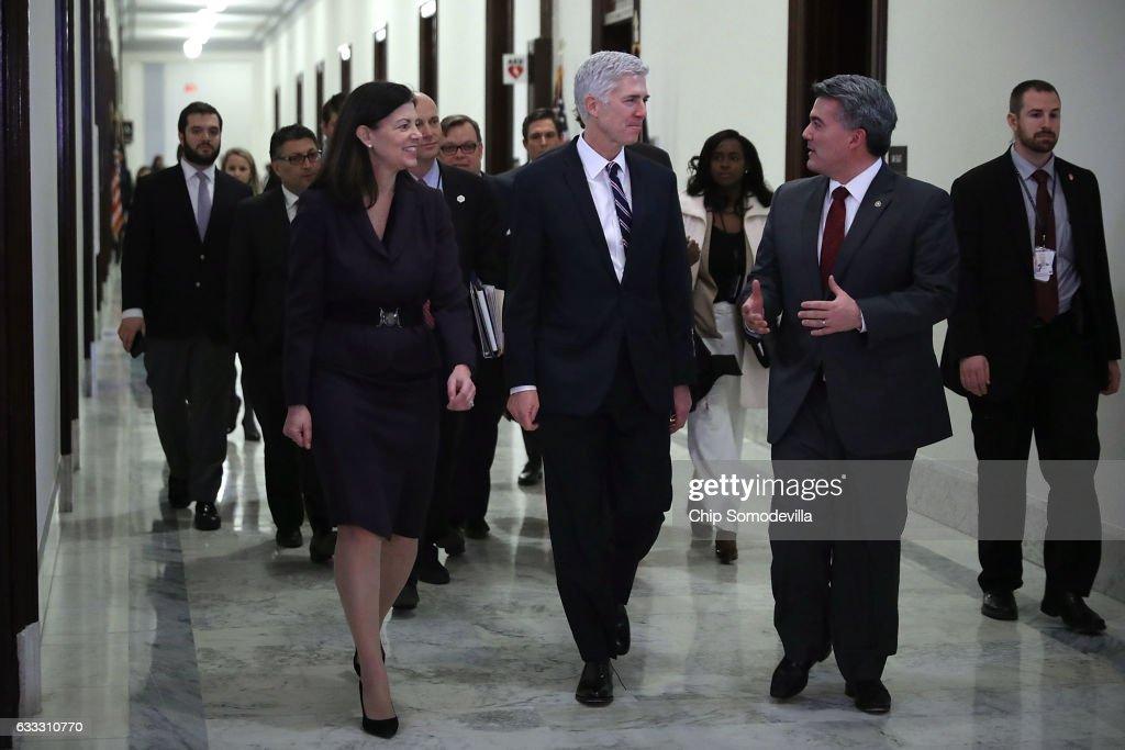 Supreme Court Nominee Judge Neil Gorsuch Meets Senators On Capitol Hill