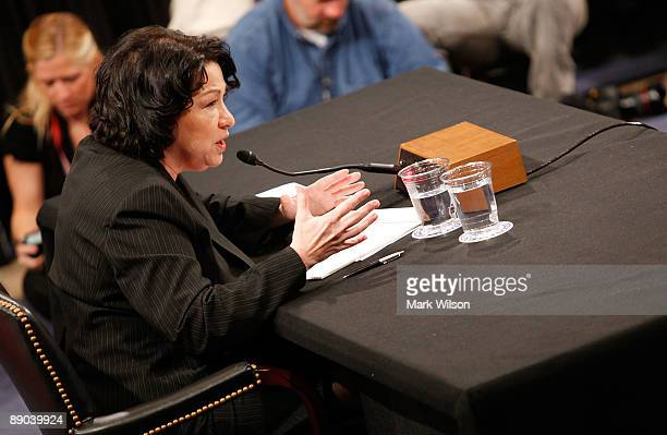 Supreme Court nominee Judge Sonia Sotomayor testifies on the third day of confirmation hearings before the Senate Judiciary Committee on Capitol Hill...