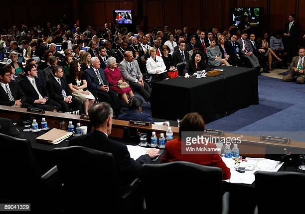 Supreme Court nominee Judge Sonia Sotomayor testifies on the third day of confirmation hearings before the Senate Judiciary Committee July 15 2009 in...