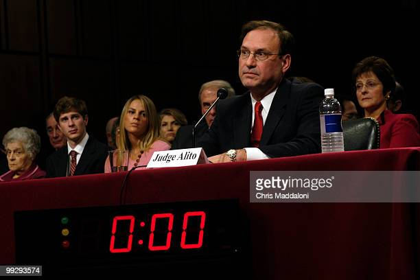 Supreme Court nominee Samuel Alito at his confirmation hearing before the Senate Judiciary Committee.
