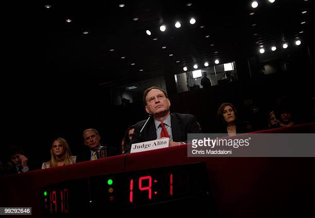 Supreme Court nominee Samuel Alito at his confirmation hearing for the Senate Judiciary Committee.