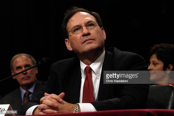 Supreme Court nominee Samuel Alito at his last day of confirmation hearings for the Senate Judiciary Committee.