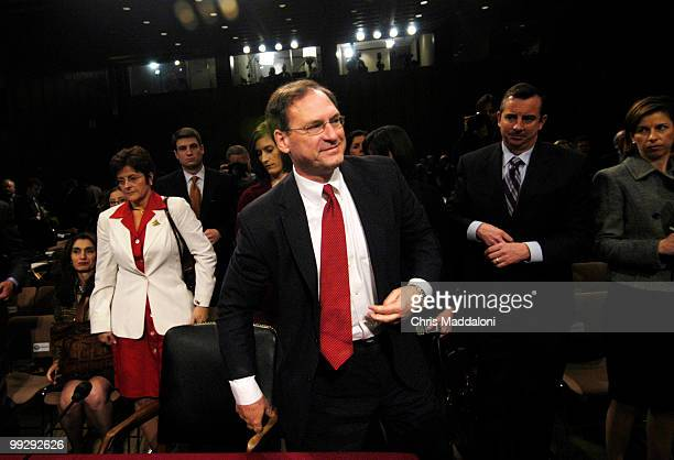 Supreme Court nominee Samuel Alito finishes his last day of confirmation hearings for the Senate Judiciary Committee.