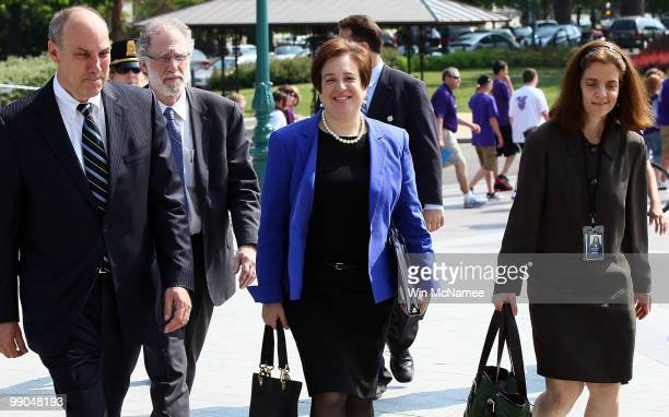 Supreme Court nominee, Solicitor General Elena Kagan arrives for meetings with Senators at the U.S. Capitol May 12, 2010 in Washington, DC. If...