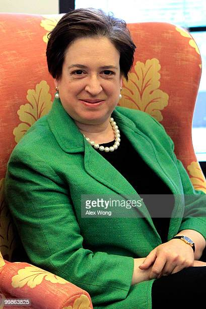 Supreme Court nominee, Solicitor General Elena Kagan is seen meeting with Sen. Sheldon Whitehouse on Capitol Hill May 18, 2010 in Washington, DC....