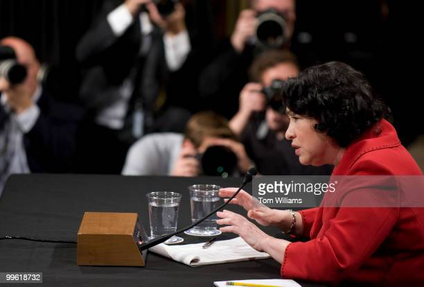 Supreme Court nominee Sonia Sotomayor testifies on the second day of her confirmation hearing before the Senate Judiciary Committee in 216 Hart...