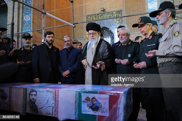 Supreme Leader of Iran Ali Khamenei General Staff of the Armed Forces of Iran Mohammad Bagheri and Deputy General Staff of the Armed Forces of Iran...