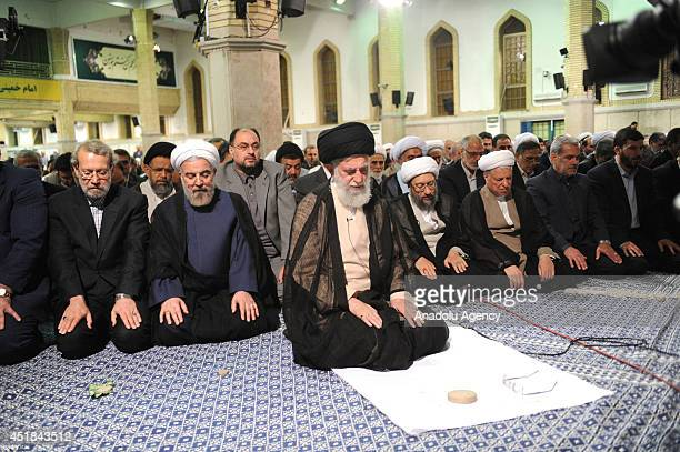 Supreme Leader of Iran Ayatollah Ali Khamenei , Iran President Hassan Rouhani , chairman of the Parliament of Iran Ali Larijani and Judiciary Chief...