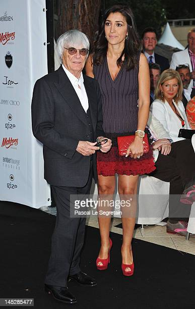 Supremo Bernie Ecclestone and his fiancee Fabiana Flosi attend the Amber Fashion Show and Charity Auction at Le Meridien Beach Plaza Hotel on May 25...