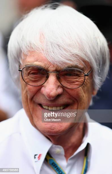 Supremo Bernie Ecclestone looks on prior to the Monaco Formula One Grand Prix at Circuit de Monaco on May 25 2014 in MonteCarlo Monaco