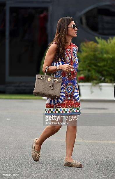 Supremo Bernie Ecclestone's wife Fabiana Flosi walks on the paddock area during Formula One Grand Prix of Italy at Autodromo di Monza in Monza, Italy...