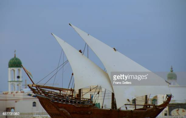 sur, city in oman, known for the construction of high quality dhows - frans sellies stockfoto's en -beelden