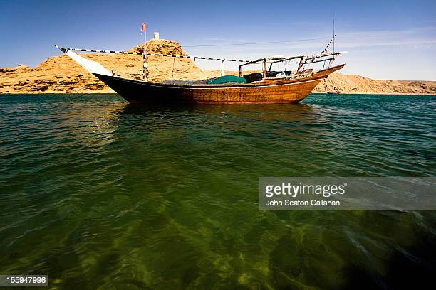 Sur, traditional dhow in harbour.