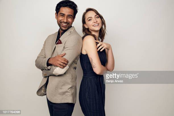 Suraj Sharma and Violett Beane of CBS's 'God Friended Me' pose for a portrait during the 2018 Summer Television Critics Association Press Tour at The...