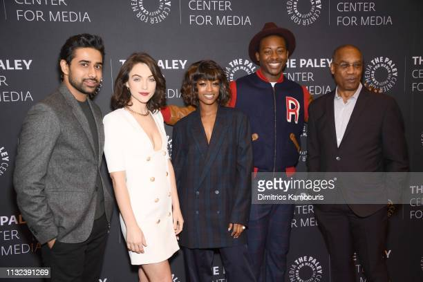 Suraj Sharma Violett Beane Javicia Leslie Brandon Michael Hall and Joe Morton attend the God Friended Me Screening Discussion at The Paley Center for...