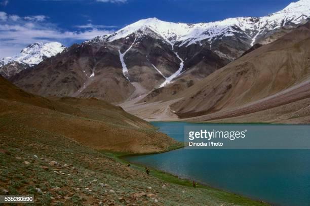 Suraj Tal in Himachal Pradesh, India