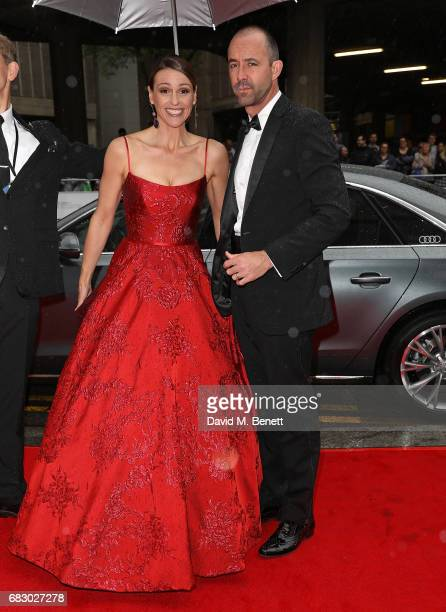 Suranne Jones and Laurence Akers arrive in an Audi at the BAFTA TV on Sunday 14 May 2017 on May 14 2017 in London United Kingdom