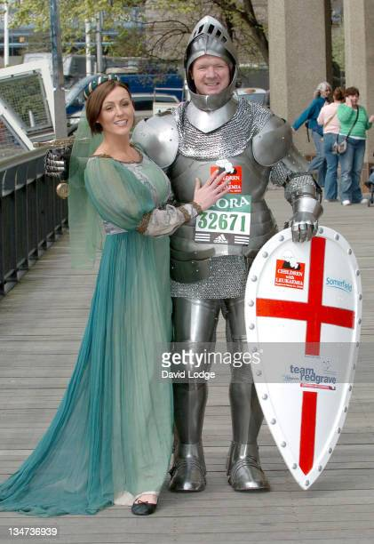 Suranne Jones and Lloyd Scott during London Flora Marathon Celebity Photocall April 21 2006 at The Thistle Tower in London Great Britain