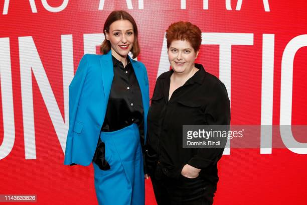 Suranne Jones and Sally Wainwright attend the SAGAFTRA Foundation Conversations 'Gentleman Jack' at The Robin Williams Center on April 18 2019 in New...
