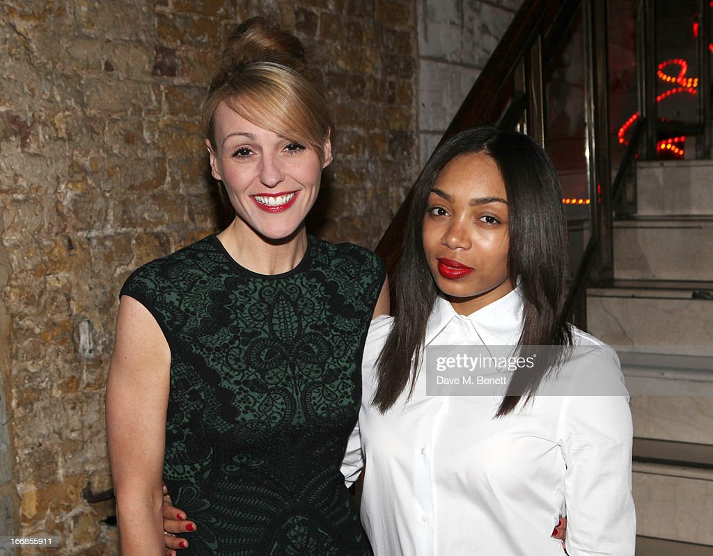 Suranne Jones and Zaraah Abrahams attend the 'Beautiful Thing' press night after party at Salvador and Amanda on April 17, 2013 in London, England.