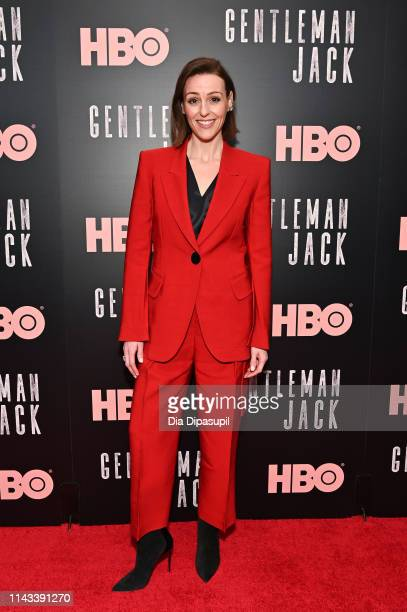 Suranne Jones attends the Gentleman Jack New York premiere at Metrograph on April 17 2019 in New York City
