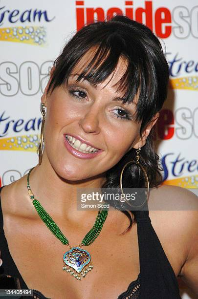Suranne Jones during 2004 Inside Soap Awards Press Room at La Rascasse Cafe Grand Prix in London Great Britain