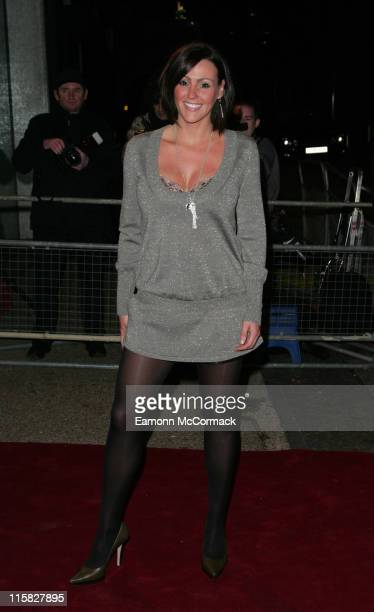 Suranne Jones during An Audience with Take That Arrivals at The London Television Centre in London Great Britain