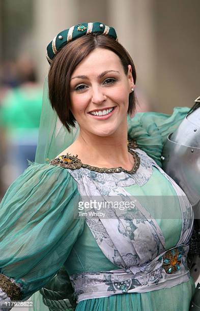 Suranne Jones during Flora London Marathon 2006 Celebrity Photocall April 21 2006 at Thistle Hotel in London Great Britain